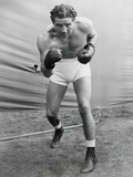 Max Baer, Former World Heavyweight Champion at His Training Camp in Speculator, Ny Fotografía