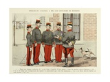 My 28 Days, 1896, Speech of the Colonel to the Reserve Officers Giclee Print by Albert Guillaume