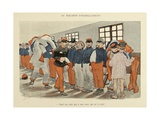 Military Illustration in My 28 Days, 1896, Soldiers at the Clothing Store Giclee Print by Albert Guillaume