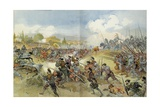 Battle of Ceresole, 1544. the French Against Spain and Holy Roman Empire Giclee Print by Albert Robida