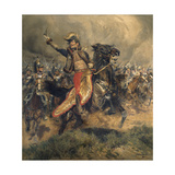 Last Charge of the General Lassalle, Battle of Wagram, July 6, 1809 Giclee Print by Edouard Detaille