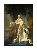 Portrait of Louis XVI, in Coronation Robe. 1786 Giclee Print by Antoine Francois Callet