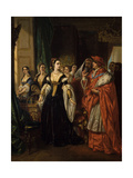 Divorce of Henry Viii and Catherine of Aragon before Cardinal of Wolsey Ca. 1530 Giclee Print by Eugene Deveria