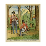 English Soldiers in Charge of Guarding the Emperor Napoleon in Saint Helena Giclee Print by Louis Bombled
