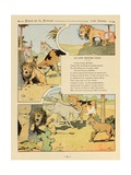 The Lion Become Old, La Fontaine's Fables Giclee Print by Benjamin Rabier