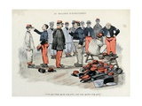 Mes Campagnes, 1896, Recruits in the Clothing Store, Trying on Kepis Giclee Print by Albert Guillaume