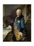 Marquis De Marigny, Director of King's Buildings, Brother of Madame De Pompadour Giclee Print by Louis Tocque