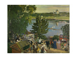 Promenade Along the Volga, 1909 Giclee Print by Boris Kustodiev