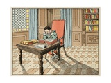 Education in the 16th Century: Reading the Classics Giclee Print by Jacques de Breville