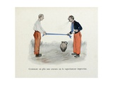 Mes Campagnes, 1896, How to Fold a Tie, or an Improvised Spray Giclee Print by Albert Guillaume