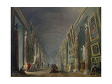 Great Gallery of the Louvre Between 1801 and 1805 Giclee Print by Hubert Robert