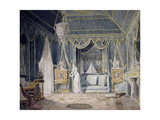 Boudoir of the Queen Hortense De Beauharnais in 1811 Giclee Print by Auguste Garneray