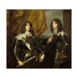 Prince Charles Louis, Elector Palatine and His Brother, Prince Rupert, 1637 Giclee Print by Anthony Van Dyck