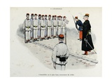 Mes Campagnes, 1896, Recruits Drill-Squad Is Standing at Attention Giclee Print by Albert Guillaume