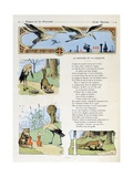 The Fox and the Stork. 'La Fontaine's Fables' Giclee Print by Benjamin Rabier