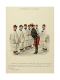 Military Illustration in My 28 Days, 1896, Conference of the Captain Giclee Print by Albert Guillaume