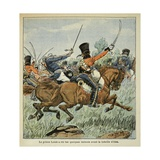 Death of Prince Louis Ferdinand of Prussia at the Battle of Saalfeld, Oct. 1806 Giclee Print by Louis Bombled
