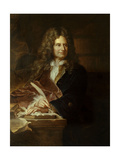 Nicolas Boileau, known as Boileau-Despreaux. Ca. 1700 Giclee Print by Hyacinthe Rigaud