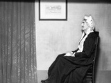 On His Rocker, Instead of Off, Is Groucho Marx Posing as Whistler's Mother Photo