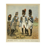 Grenadiers of Imperial Guard: Service Dress, Parade Dress, and Campaign Dress Giclee Print by Louis Bombled