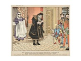 Birth of Henry Iv. His Grandfather Rubs His Lips with Garlic Giclee Print by Jacques de Breville