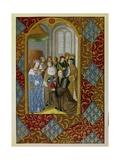 Antoine Verard Presents His Book to Charles VIII, History of Printing, 15th C Giclée-Druck von Antoine Verard
