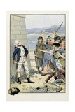 La Tour D Auvergne Attacked by British Mob Because of His Cockade Reproduction procédé giclée par Jacques de Breville