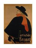 Aristide Bruant in His Cabaret Giclee Print by Henri de Toulouse Lautrec