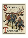 S – T: Soldiers in the Trench, Alphabet of War, 1916 Giclee Print by Henri Lanos