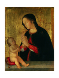 The Madonna Adoring the Child Giclee Print by Antoniazzo Romano