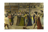 Shops in Gallery of the Palais Royal, Paris in 17th Century Giclee Print by Abraham Bosse