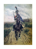 Hussar Vanguard Giclee Print by Edouard Detaille