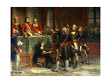 First Consul Receives the Oath the Section Presidents of the State Council, Dec. 25, 1899 Giclee Print by Auguste Couder