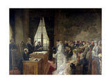 Civil Marriage of Son of Mathurin Moreau Mayor of Paris' 19th Arrondissement, 1884 Giclee Print by Henri Gervex