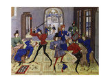 Renaud De Montauban Cycle, or the Four Sons of Aymon. Game of Chess Giclee Print by Loyset Liedet