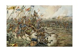 The Battle of Grandson, March 2, 1476 Between Swiss and Burgundy Reproduction procédé giclée par Jacques de Breville