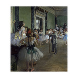 The Ballet Class, 1873 Giclee Print by Edgar Degas