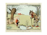 The Wolf and the Lamb, 'Menagerie' Giclee Print by Benjamin Rabier