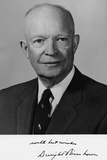 President Dwight Eisenhower, Portrait with Signature Photo