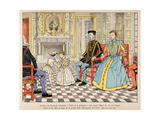Henri IV with His Cousin Henry II, and Young Marguerite De Valois Giclee Print by Jacques de Breville