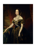 Empress Eugenia De Montijo, Wife of Napoleon III of France, 1853 Giclee Print by Edouard Louis Dubufe