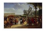 Louis XIV of France Inaugurating the Milon of Crotone Giclee Print by Gabriel Lemonnier