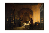 Bonaparte Receiving Austrian-Sardinian Flags Captured in Battle of Montenotte Giclee Print by Adolphe Roehn