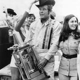 Nascar Racecar Driver Buddy Baker after Winning the Texas 500, Nov Photo