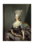 Marie Therese Louise De Savoie Carignan, Princess of Lamballe Giclee Print by Antoine Francois Callet