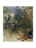 Battle of Champigny, the Bottom of the Cartridge Pouch Giclee Print by Edouard Detaille