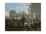 Transport of Prostitutes to the Salpetriere, 1757 Giclee Print by Etienne Jeaurat