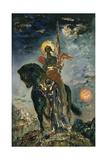Fate and the Angel of Death, 1890 Lámina giclée por Gustave Moreau