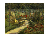 My Garden. the Bench, 1883 Giclee Print by Edouard Manet