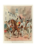 Wounded General Montcalm Returning from Battle of the Plains of Abraham Sept. 1759 Giclee Print by Louis Bombled
